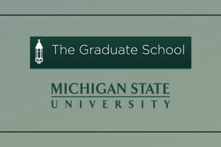 The Graduaate School logo above MSU's workmark