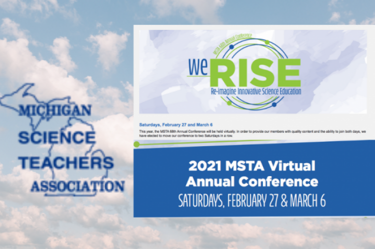 Picture of 2021 MSTA annual conference agenda and MSTA logo