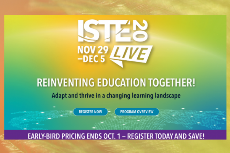 Photo of ISTE 2020 event banner from website