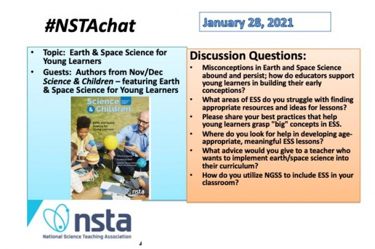 photo of NSTA Chat post