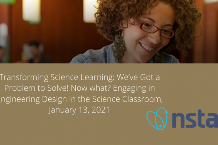 NSTA logo with title of webinar for January 13, 2021