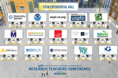 graphic of Society for Science demo hall